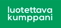 Luotettava kumppani logo ja linkki palveluun